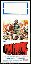 MANONE ALL'ATTACCO LOCANDINA CINEMA FILM PAUL SMITH MICHAEL COBY 1976 AFFICHE
