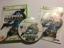 PAL XBOX 360 GAME ALPHA PROTOCOL THE ESPIONAGE RPG +BOX INSTRU' COMPLETE By SEGA