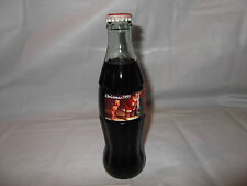 Coca Cola Coke Glass Bottle 8 oz Full 1995 Christmas Santa Claus Holiday Capped