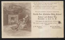 Postcard CLEVELAND OH  Euclid Ave Christian Church Bible School Promo Ad 1906