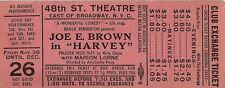 "Joe E. Brown ""HARVEY"" Marion Lorne / Pulitzer Prize 1948 Broadway Promo Ticket"