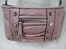 NEW B. MAKOWSKY leather hobo satchel shoulder sling bag crossbody PINK S