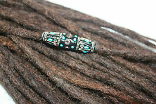 Chunky Blue and Black and red Bling bead for thin dreads, beads for dreadlocks
