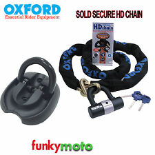 OXFORD SOLD SECURE 1.5M CHAIN LOCK & TRITON ANCHOR BIKE SCOOTER SECURITY PACK