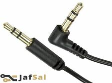 3m Meter Stereo Right Angled Male Jack to Straight Male Jack Cable 3.5mm Lead UK