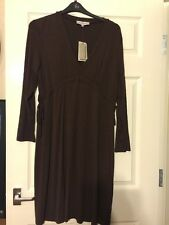 Pepperberry Size 18 Brown Chocolate Mari Jersey Dress  Leganlook Quirky New WT