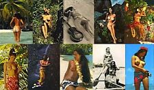 10 NUDE TAHITI HAWAII NATURIST WOMEN VINTAGE HULA GIRLS DANCER BREASTS 10 PHOTOS