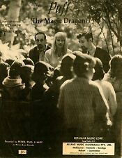 PETER, PAUL & MARY - PUFF THE MAGIC DRAGON - VINTAGE SHEET MUSIC AUSTRALIA