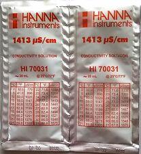 2 X solución tampón de CE/calibración Hanna 1413 µS/cm 20ml (HI 70031)