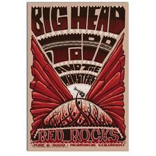 BIG HEAD TODD & THE MONSTERS 2009 Red Rocks - Colorado Concert / Gig Poster