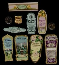 9 - BACORN'S BEAUTY LABELS 1900's / GOLD GLIT-FLOWER-PERFUME