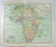 Original 1898 Map of Colonial Africa