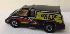 Hot Wheels 1980 Hi-Rakers 'Vette Van Chevrolet Corvette Black bw Hong Kong