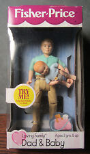 1999 Dad Lifting Baby - New in Pkg - Fisher Price Loving Family Dollhouse Dolls
