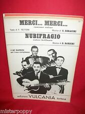 BARBINI ed il suo Complesso Merci merci + Nubifragio 1952 Ed Vulcania Spartiti