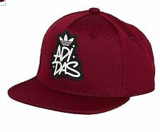 ADIDAS ORIGINALS MESH SNAP BACK HAT CAP RED MEN WOMEN TRUCKER FLAT BRIM
