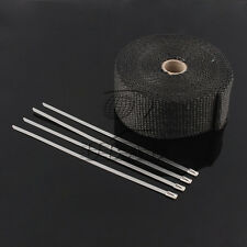 10M Black High Heat Insulation Fiberglass Wrap Exhaust Header Pipe Tape Cloth