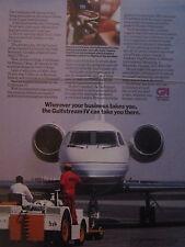 5/1989 PUB GULFSTREAM IV EXECUTIVE AIRCRAFT DUBAI EMIRATES ORIGINAL AD
