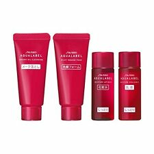 Shiseido Aqua Label Moisture Trial Set Cleansing oil,Facial foam,Lotion,Milk F/S