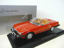 MERCEDS 300SL W107 US VERSION   red  Softtop Dealer Ed Norev 1:18 FREE SHIPPING