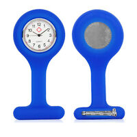 Nurses Tunic Blue Gel Silicone Plastic Fob Watch Brooch Quartz Watch Timepiece