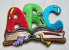 Cute Pretty ABC Book For Kids Embroidered Iron on Patch Free Shipping