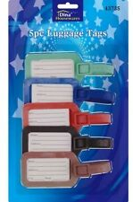 5 X Holiday Luggage Baggage Tags Label Name Address ID Suitcases Bag Travel