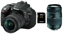 Nikon d5300 Set + 18-55 mm DX + telezoom 70-300 + 16gb! D 5300 + Pacchetto Accessori
