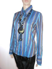 AH46 Vintage 90s Designer ETERNA Silverline Striped Formal Tailored Office Shirt