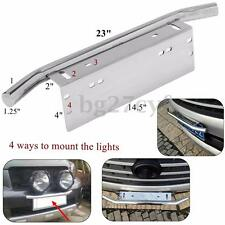 "New 23"" Bull Bar Style Bumper License Plate Mount Bracket Holder For Work Lights"