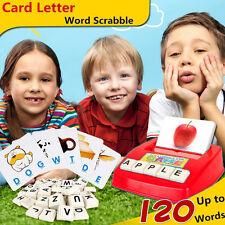 Kid Learning English Words Scrabble Educational Toy Fun Gift For Girl/Boy B TL