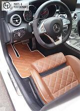 LEDER Designo Fußmatten Kofferraummatte für Mercedes-Benz C Klasse W205 & AMG