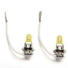 2Pcs Golden Yellow Car Light 12V H3 Headlight White Fog Halogen Bulb 55W