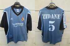 VINTAGE Maillot REAL MADRID ADIDAS camiseta ZIDANE n°5 third 2002 shirt football