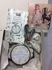 NEW American Girl Doll Felicity's Long Retired Rare Needlework Kit & Frame NIB!
