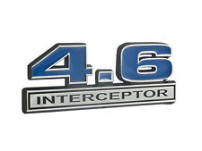 Ford Crown Vic 4.6 4.6L Police Interceptor Emblem Blue Inlay w/ Chrome Trim