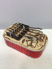 African Kalimba Thumb Piano Recycled Sardine Can Burnished Wood