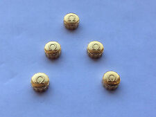 A LOT OF 5 X OMEGA YELLOW GOLD PLATED WATCH CROWN KEYS.(WS-LOC7).