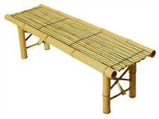 Foldable Bamboo Bench Tropical Coffee Table Bench Room Decoration Patio Bac