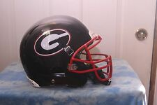 "GAME USED BLACK "" GEORGIA BULLDOGS "" NICK CHUBB XENITH FOOTBALL HELMET, LG"