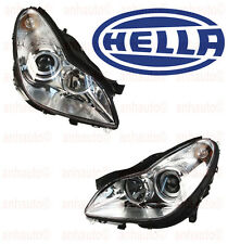 Mercedes W219 Headlight Assembly Halogen Left + Right Side OEM HELLA