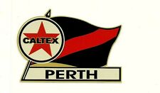 CALTEX & PERTH Vinyl Decal Sticker PETROL PROMO WAFL afl vfl FOOTBALL
