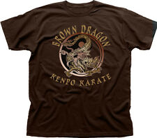 Kenpo Karate marrón Dragon Artes Marciales Marrón Algodón Camiseta tc0967
