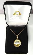 Two-Toned Handcrafted Gold & Silver U.S. White Buffalo Nickel Necklace, HD18