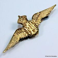 "1940s 1.5"" WW2 Royal Air Force RAF Wings Gilt Sweetheart Brooch Badge #A079"