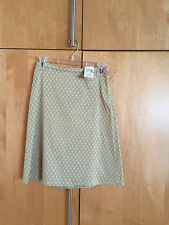 PIAZZA SEMPIONE GOLD/LIME STRETCH COTTON A LINE SKIRT-38-S-NWD-$355-SO CHIC