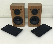 KLH 1000 Series AV2000 High-Quailty 2-Way Speakers Simulated Wood Grain Cabinets