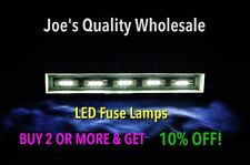 LOT OF(100)WARM WHITE 8V LED FUSE LAMP 3X -AMPLIFIER/2230 2275 2285 2245 /STEREO