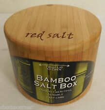 Totally Bamboo Salt and Storage Box Laser-Etched with 'Red Salt'