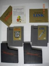 The Legend of Zelda & Zelda 2 Adventure of Link For Nintendo NES Pins Cleaned